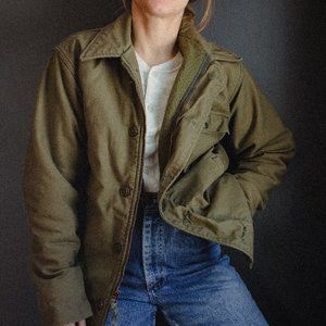 Vintage 1960's Military Lined Winter Jacket